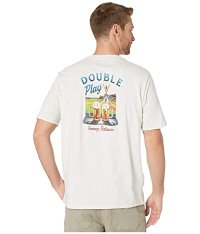 Tommy Bahama Double Play T-Shirt (Oatmeal Heather) Men