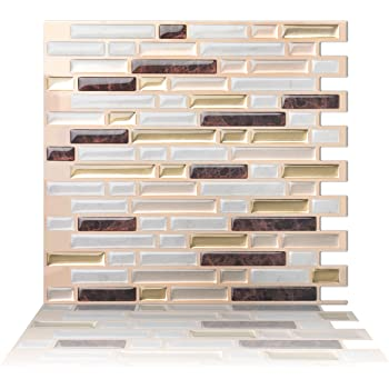 Tic Tac Tiles Prime peel anti mold et b/âton de carreaux de mur dosseret comme la cr/ème 12 x 12
