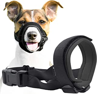 Gentle Muzzle Guard for Dogs - Prevents Biting and Unwanted Chewing Safely Secure Comfort Fit - Soft Neoprene Padding – No...