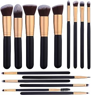15 Pcs Makeup Brushes Set Kabuki Foundation Contour Blending Blush Concealer Face Eye Shadow Brush Synthetic Complete Cosmetic Brush Kit for Powder Liquid Cream