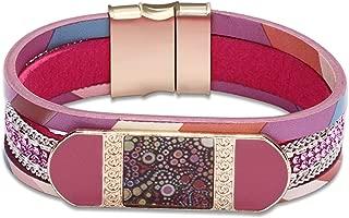 Epinki Leather Bracelet for Women Pattern