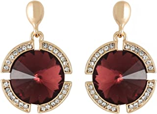 Crunchy Fashion Bollywood Style Party Wear Rodo Crystal Dangle Earrings for Women & Girls