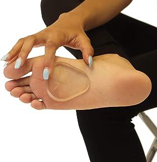 بالشتک بالشتکی ژل بالشتی پا - پد های قابل استفاده مجدد با ژل قابل شفاف قابل استفاده مجدد - تسکین درد پا - 1/8 اینچ - 2 جفت