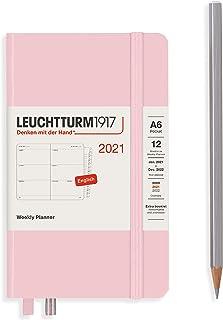 ロイヒトトゥルム 手帳 2021年 1月始まり A6 ウィークリー パウダー 362001