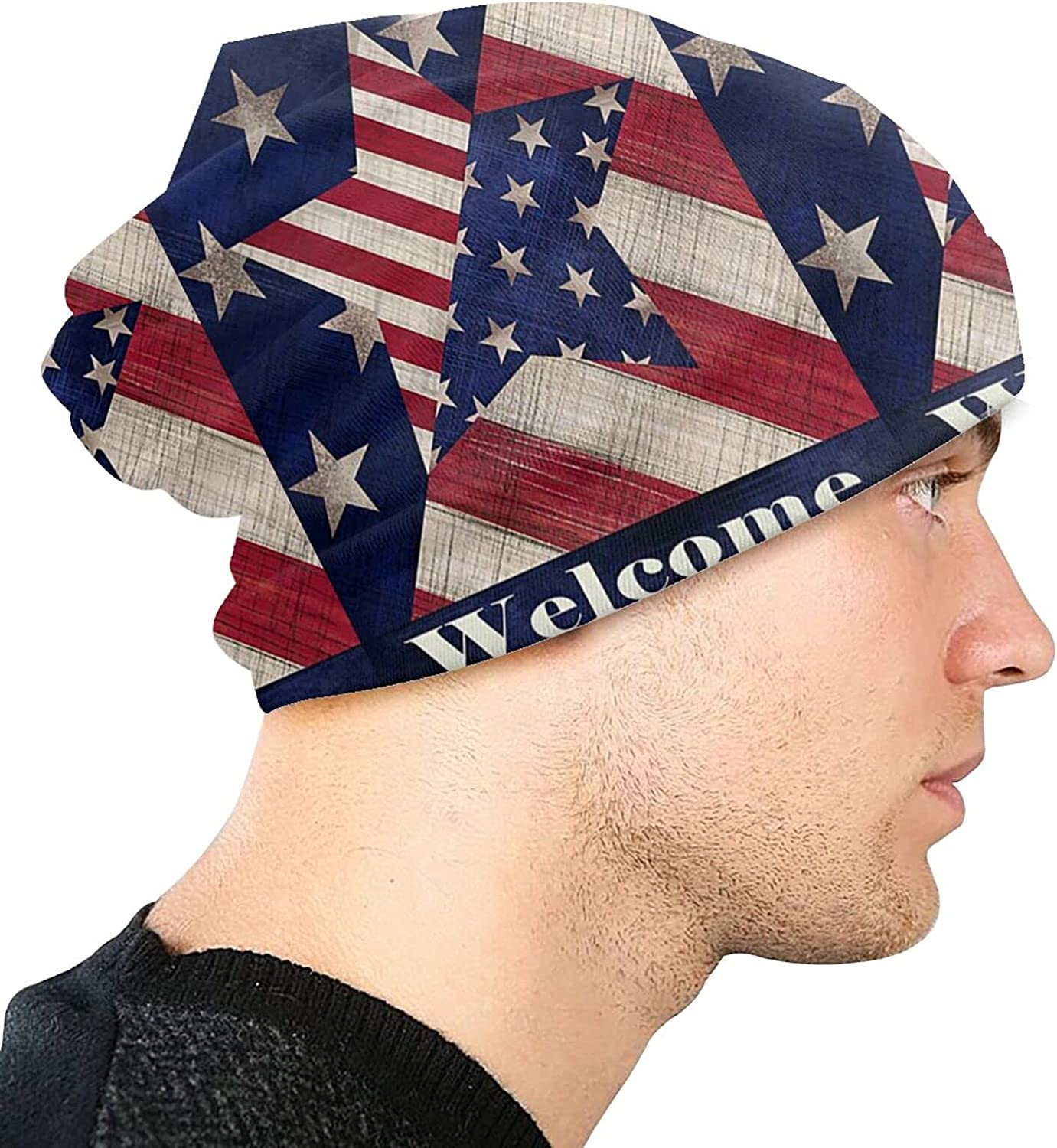 ZENGCY America 1 year warranty Independence Day Adult Polar Fashion Fle Knit Hat Max 81% OFF