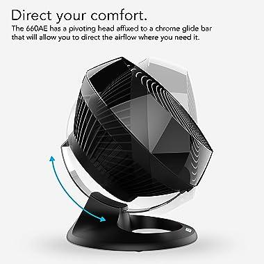 Vornado 660 AE Large Whole Room Alexa Enabled Air Circulator Fan with 4 Speeds, Black