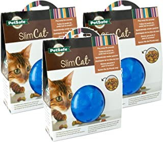 Petsafe SlimCat Meal Dispensing Cat Toy, Blue (3 Pack)