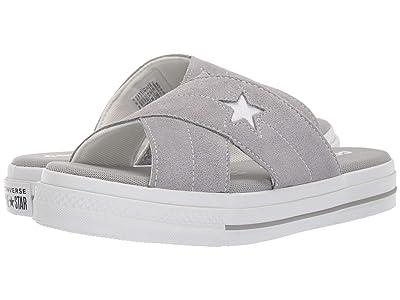 Converse One Star Sandal Slip (Dolphin/Egret/White) Women