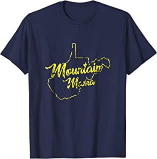 West Virginia Mountain Mama T-shirt with Distressed Design