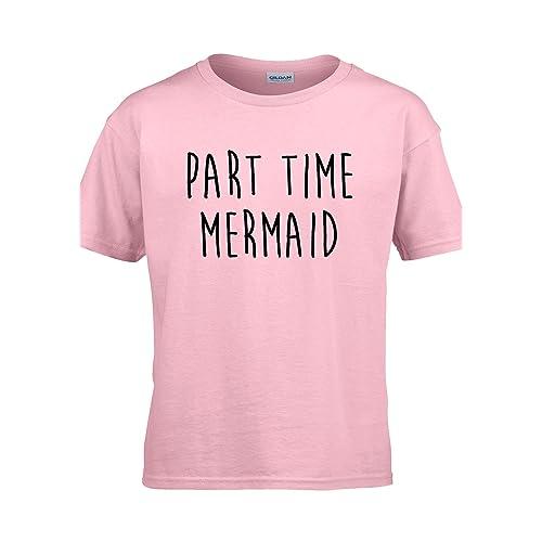 2186d59b003e41 NisabellaLTD Part Time Mermaid Parttime Funny Unisex T Shirt Top Men Women  Ladies