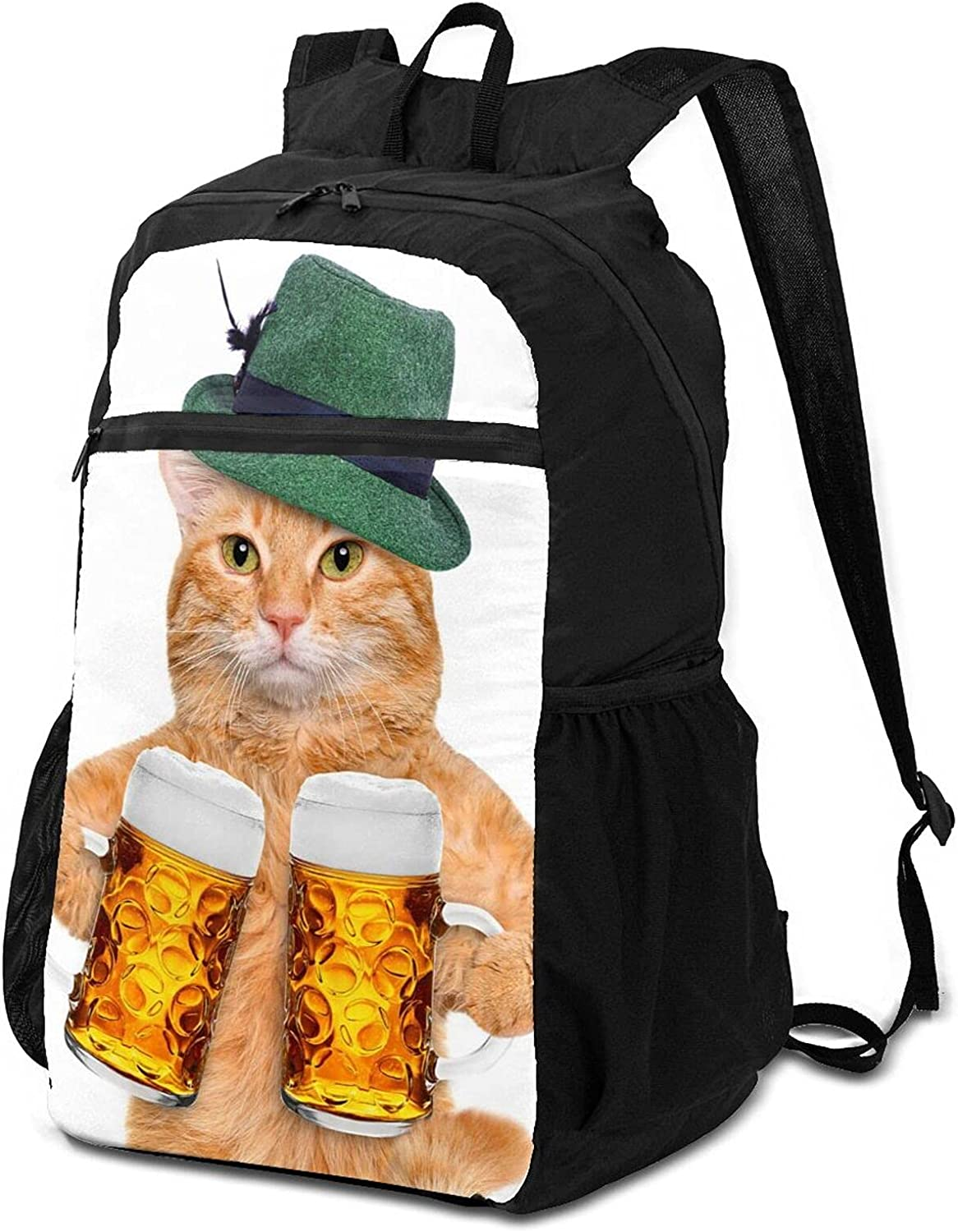 Cool Cat Max 75% OFF With Hat And Beer for Wom Packable Max 76% OFF Backpack Lightweight