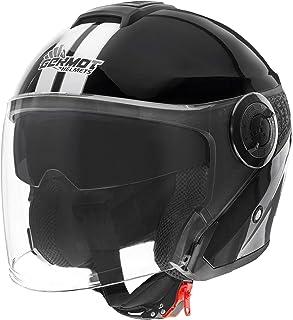 Germot Motorrad Helm GM 196 Jethelm matt White//Black