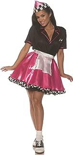 Pink Car Hop Womens Adult 50S Costume