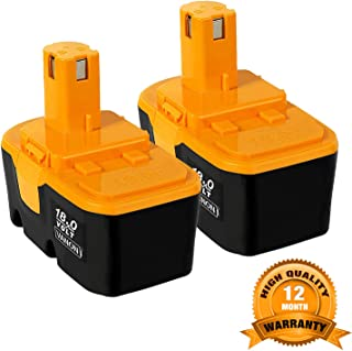 2Pack 18V 3600mAh Replace for Ryobi Battery P100 P101 ONE+ 130224028 130224007 ABP1801 ABP1803 Cordless Power Tools