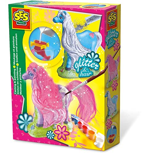 SES Deutschland 01272 Caballos - Set para modelar y pintar figuras de yeso [importado de