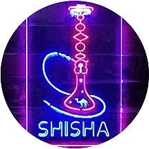 Hookah Shisha Shop Home Room Man Cave Décor Dual Color LED Neon Sign Red & Blue 210 x 300mm st6s23-i3208-rb