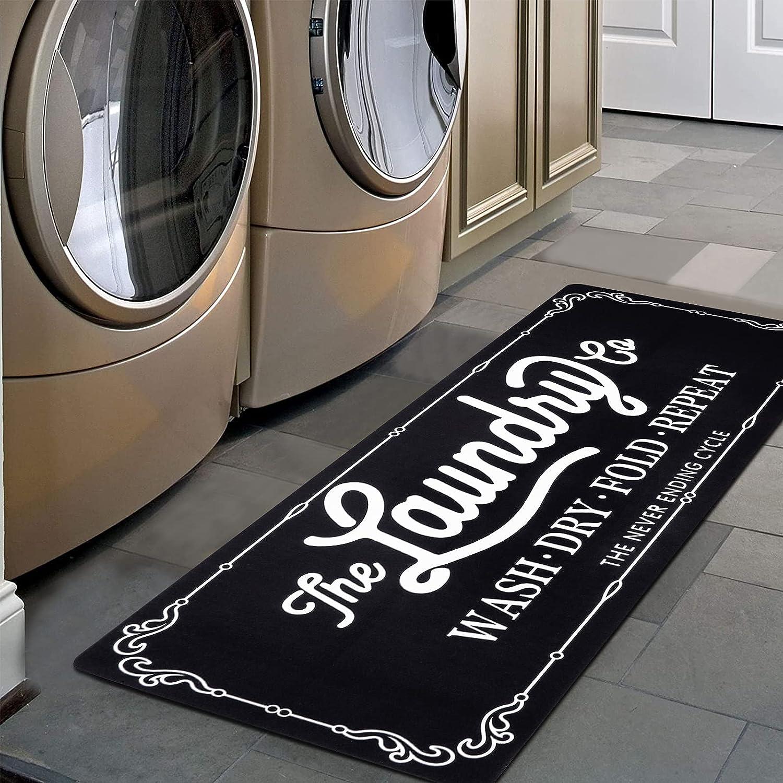 Pauwer Farmhouse Laundry Room Rugs Runner 20