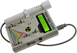GCA-06W Professional Geiger Counter Nuclear Radiation Detection Monitor with Digital Meter and External Wand Probe - NIST Calibration Ready- 0.001 mR/hr Resolution -- 1000 mR/hr Range