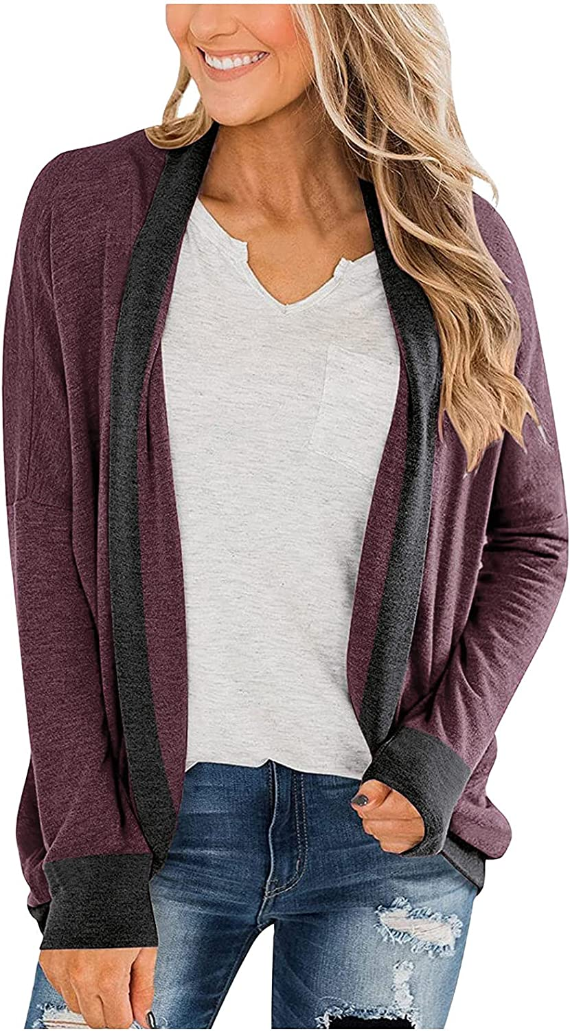 Womens Kimono Open Front Cardigans Shawl Batwing Col Sleeve Special sale item Long Max 89% OFF