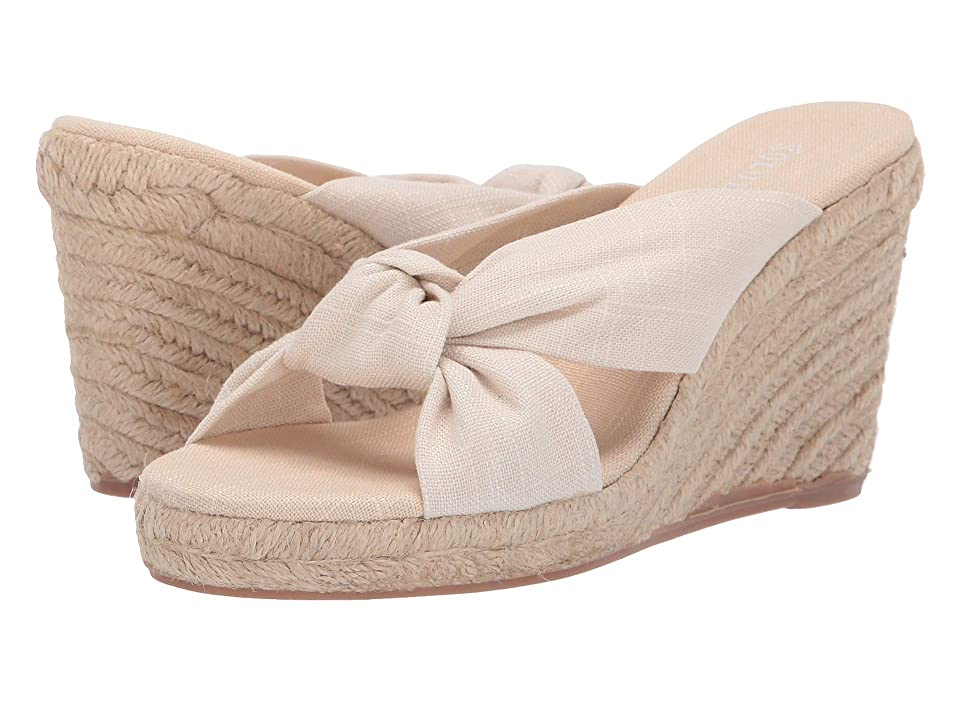 Soludos 90 mm Knotted Wedge (Blush) Women