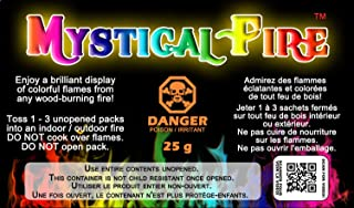 Mystical Fire Flame Colorant Vibrant Long-Lasting Pulsating Flame Color Changer for Indoor or Outdoor Use 0.882 oz. Packets 2 Pack