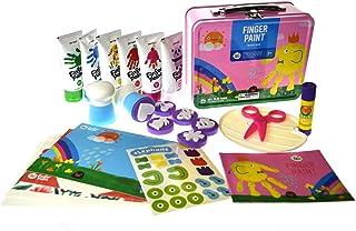 JarMelo Children's Finger Paint Kit, Pink