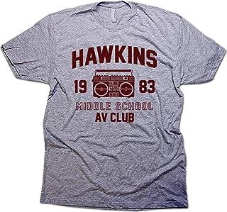 Daft Hawkins Middle School A.V. Club Stranger & Things Shirt & Eleven Sticker