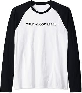 Wild Aloof Rebel Raglan Baseball Tee