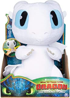 """How to Train Your Dragon 3: The Hidden World Squeeze and Growl Lightfury 10"""" Plush Dragon with Sounds (Original Version)"""