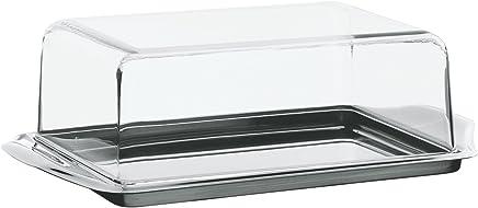 Preisvergleich für WMF Butterdose, Knackig frisch, Cromargan Edelstahl mattiert, Kunststoffhaube, spülmaschinengeeignet, 16 x 10 cm