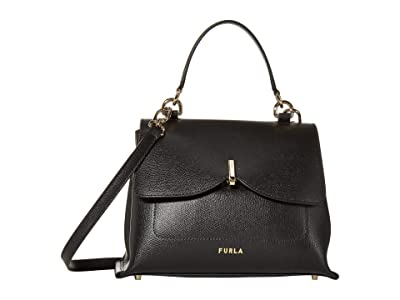 Furla Ribbon Medium Top-Handle (Nero) Handbags