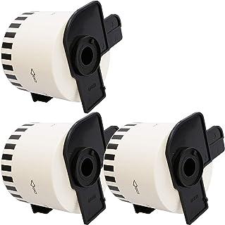 3 x DK22205 62mm x 30.48m Etiquetas continuas compatible con Brother P-Touch QL-500 QL-500A QL-550 QL-560 QL-570 QL-700 QL-710W QL-720NW QL-800 QL-810W QL-820NWB QL-1050 QL-1060N QL-1100 QL-1110NWB