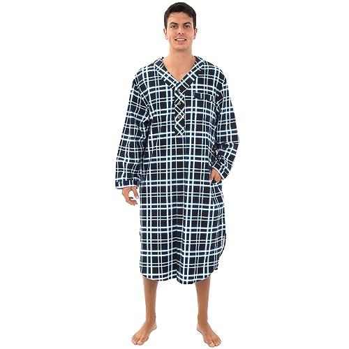 ab48546256 Alexander Del Rossa Mens Flannel Nightshirt