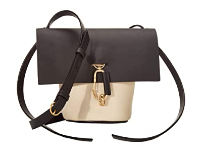 ZAC Zac Posen Belay Mini Crossbody Color Block (Brindle/Ivory) Cross Body Handbags