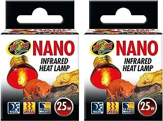 Zoo Med (2 Pack) Nano Infrared Heat Lamp, 25 Watt