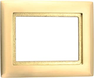 Hubbell Wiring Systems SB3083 Brass 1-Gang Round Floor Box Rectangle Carpet Tapered Flange, 4-27/32