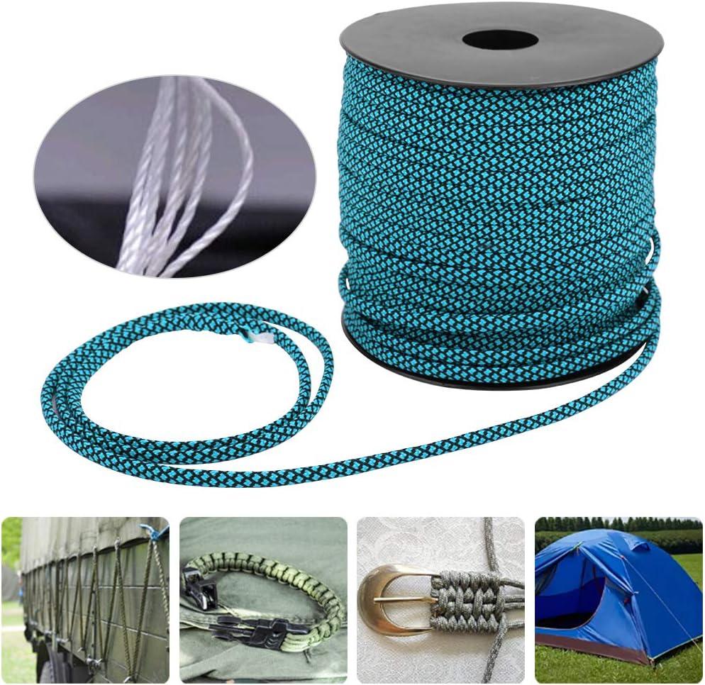 Alomejor 50M Camping Rope Gurtseil 7 Core 200 KGS Kletterseil zum Binden von Zeltweben Backpacking Rescue