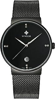 ساعة رجل الأعمال من دبليو وور لون أسود