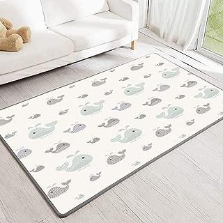 LIVING CODI Baby Safety Play Mat XL (Whale) (XL)