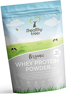 Organic Whey Protein Powder 600g (Unflavoured) - High in Amino Acids and BCAAs, Free 15g Scoop - 80% Pure Organic Whey Pro...