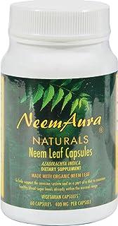 Neem Aura Organic Neem Leaf - 60 Vegetarian Capsules (Pack of 2)