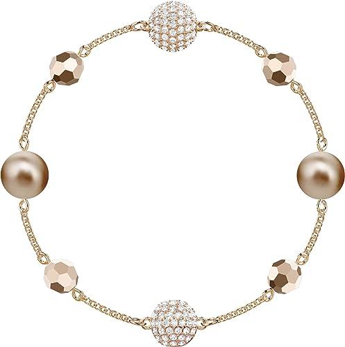 Swarovski Women's Symbols Evil Eye, Flower, Feather, Moon, Heart, Lucky Charm, Faith, Dragonfly Crystal Bracelet Coll...