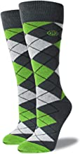 product image for Mitscoots Women's Neon Green Argyle Socks