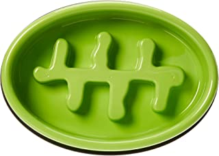 AmazonBasics Dog Slow Feeder Bowl for Anti-Bloating, Honeycomb - Green
