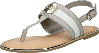 Tommy Hilfiger Th Round Hardware Flat Sandal Women's Fashion Sandals