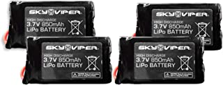 Sky Viper Quick Swap S1750 & V2450 HD GPS FPV Video Drone Battery Pack (4 Pack)