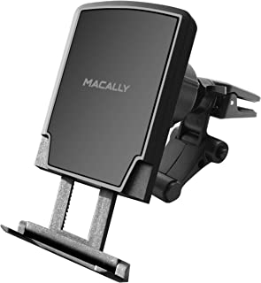 Macally Universal Magnetic Air Vent Mount Car Phone Holder with Super Strong Magnet & Foot Support for iPhone Xs Max XR X 8 Plus 7 6S 6 SE Samsung Galaxy S9 S8 Edge S7 Note 5- MVENTMAG