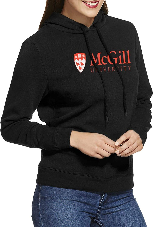RUIHGK McGill University Logo Casual 最安値挑戦 Hooded Comfortable Women's 舗