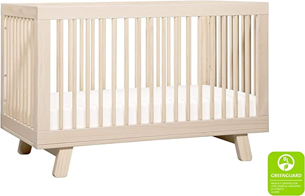 Babyletto Hudson 3 In 1 Convertible Crib With Toddler Bed Conversion Kit Washed Natural