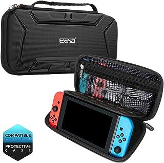 EGRD Nintendo Switch ケース ゲームカードケース  ニンテンドスイッチ収納バッグ 大容量 キャリングケース 15枚ゲームカード収納可 全面保護型 耐衝撃 持ち運び便利 撥水 型崩れなし ハンドストラップ付 カード/充電ケーブル/イヤホン/Joy-Consストラップなど小物収納可 父の日プレゼント